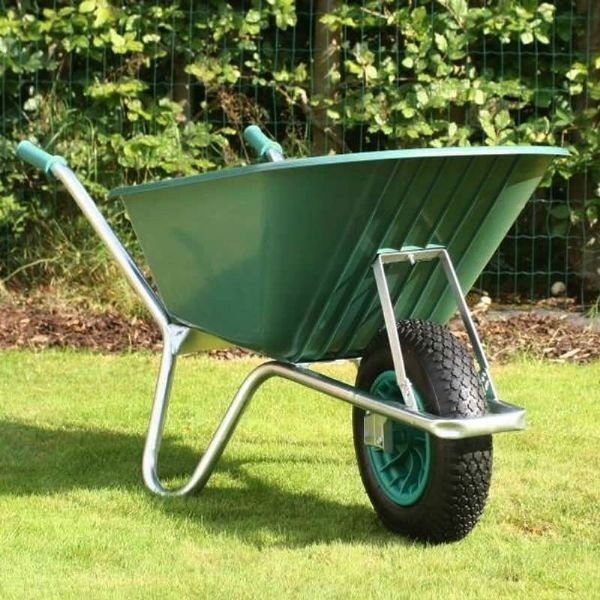 County Cruiser Wheelbarrow | Plastic Wheelbarrow Green Tray